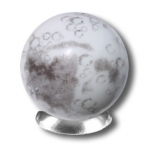 Iridescent Moon Marble With Craters and Mares, 5 In A Pouch, 1 Inch Diameter