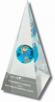 "Pyramid - ""Founder's Award"" Logo Laser Engraved"
