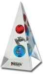 """Pyramid - """"Kennedy Space Center"""" 2 Color Logo, Earth, Mars, Space Station & Shuttle!"""