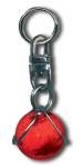 Zipper Pull Red Mars, 3 Color Mountains & Ice Caps, Silver-Plated Findings, Half Inch Diameter