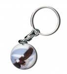 Animarble Keychains, 12 Animals To Choose From, Silver-Plated Findings, 1 Inch Diameter