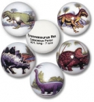 Dinosaur Animarbles, Educational Info Included, 5 In A Pouch With Stands, 1 Inch Diameter