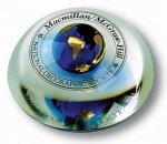 "Dome - ""National Geographic/Macmillan"" 1 Color Circular Logo, Recycled Glass"