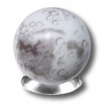 Iridescent Moon Marble With Craters and Mares, 5 In A Pouch, Half Inch Diameter