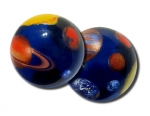 Solar System Marble Showing The Sun, Moon & The Planets Mercury, Venus, Earth, Mars, Jupiter, Saturn, Uranus & Neptune. Pluto, Too! In Acrylic Box With Pouch And Stand